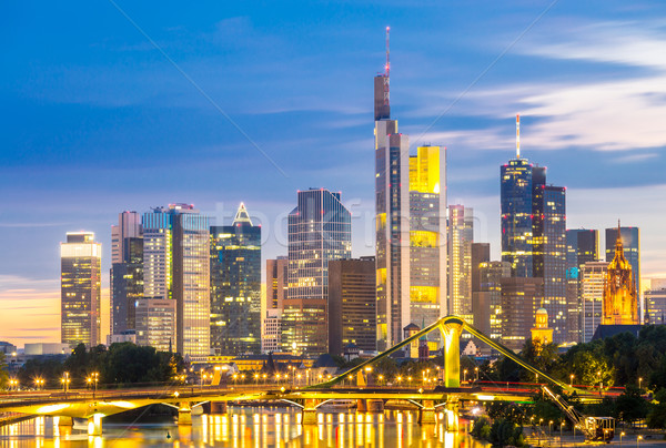 Frankfurt Skylines at disk Stock photo © vichie81