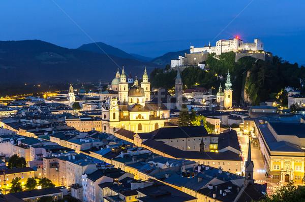 Austria noche hermosa vista histórico ciudad Foto stock © vichie81