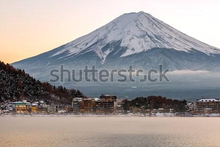 Górskich fuji widoku jezioro wygaśnięcia krajobraz Zdjęcia stock © vichie81