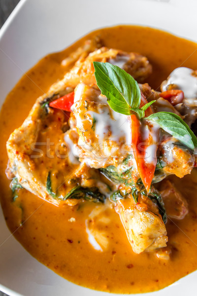 Fish with Red Curry Paste Stock photo © vichie81