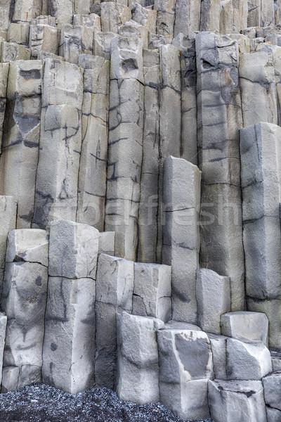 Исландия черный песок пляж базальт колонки Сток-фото © vichie81