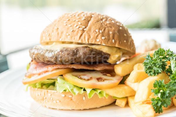 Beef hamburger Stock photo © vichie81