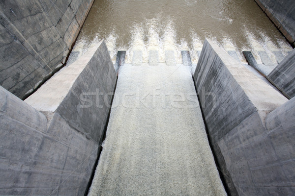 water from gate dam Stock photo © vichie81