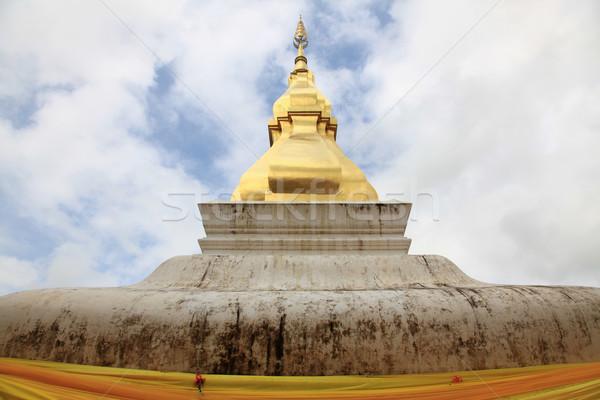 Pagoda cielo blu costruzione montagna piscina parco Foto d'archivio © vichie81
