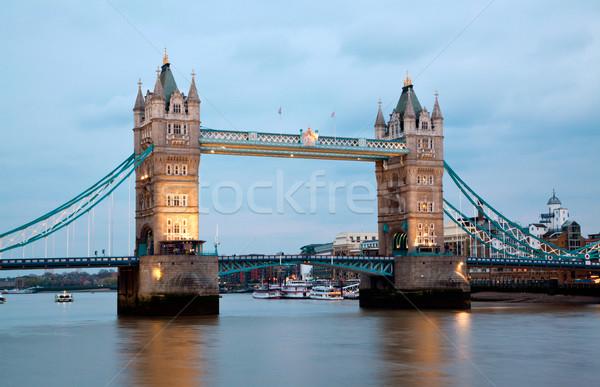 Londra Tower Bridge fiume thames Inghilterra blu Foto d'archivio © vichie81