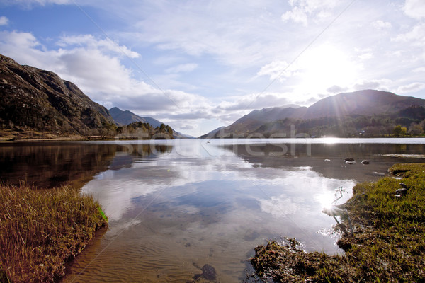 Loch Shiel Lake at Glenn Finnan Highlands Scotland Stock photo © vichie81