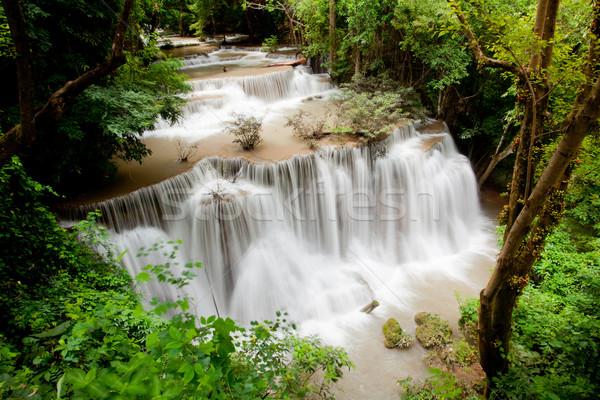 Tropikal rainforest çağlayan park Tayland su Stok fotoğraf © vichie81