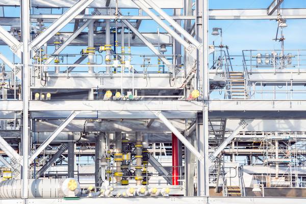 очистительный завод завода завода Природный газ хранения цистерна Сток-фото © vichie81