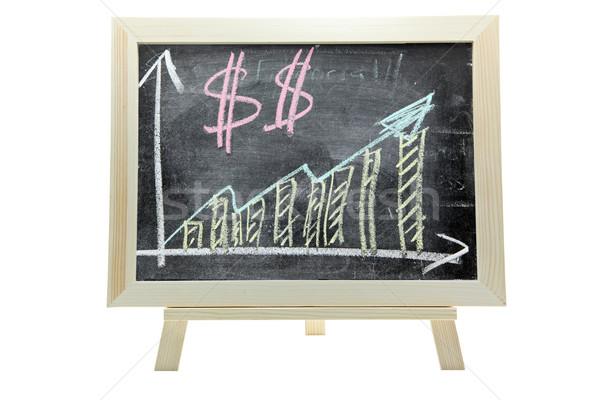 Croissant dollar argent graphique craie libre Photo stock © vichie81