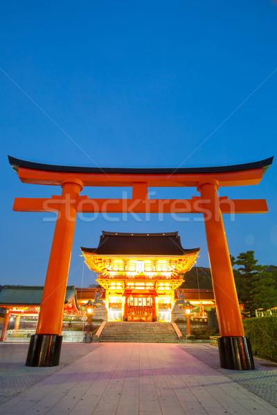 Kyoto Japon crépuscule ciel été Photo stock © vichie81