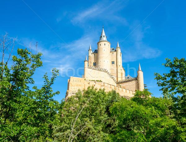 İspanya taş takviye eski şehir kale Stok fotoğraf © vichie81