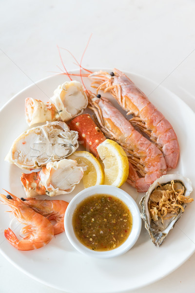 cold seafood set Stock photo © vichie81