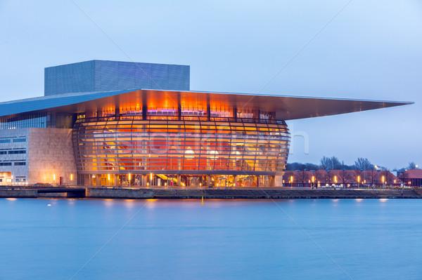 опера дома ночь сумерки воды строительство Сток-фото © vichie81