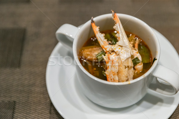 Crab tom yum soup Stock photo © vichie81