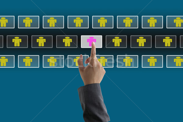 Negocios reclutamiento proceso electrónico humanos Foto stock © vichie81