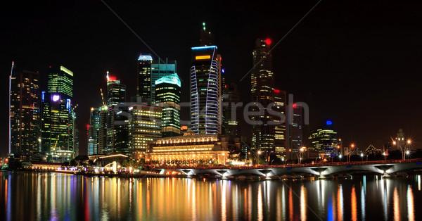 panoramic view of cityscape skyscraper in Singapore business dis Stock photo © vichie81