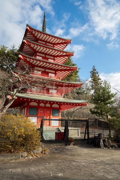 Stockfoto: Pagode · fuji · berg · Japan · mooie · stad