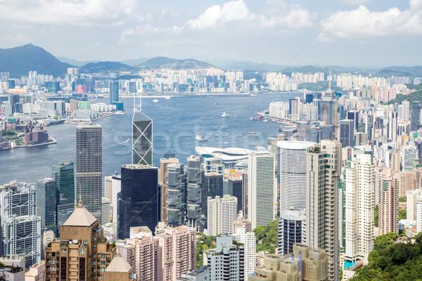 Hong Kong horizonte oficina construcción diseno urbanas Foto stock © vichie81