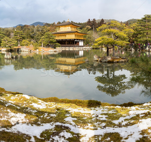 Tempio neve kyoto Giappone albero Foto d'archivio © vichie81