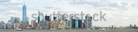 снизить Панорама Нью-Йорк Manhattan город Skyline Сток-фото © vichie81