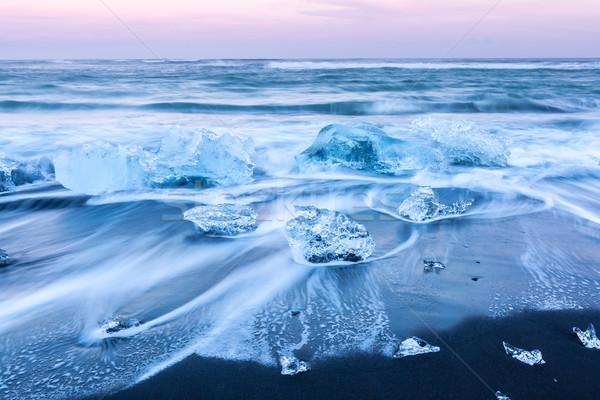 Iceberg beach Iceland Stock photo © vichie81