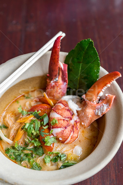 Lagosta yum picante arroz peixe Foto stock © vichie81