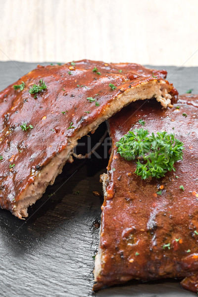 Grilled Pork Ribs Stock photo © vichie81