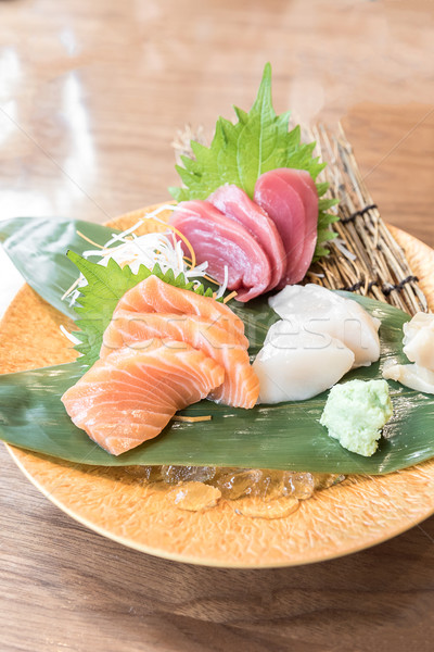 Sashimi Japon mutfak gıda Asya sushi Stok fotoğraf © vichie81