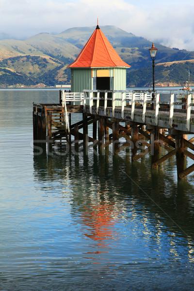 jetty pier Akaroa New Zealand Stock photo © vichie81