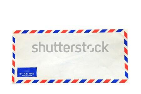 Air mail enveloppe isolé blanche bureau Photo stock © vichie81