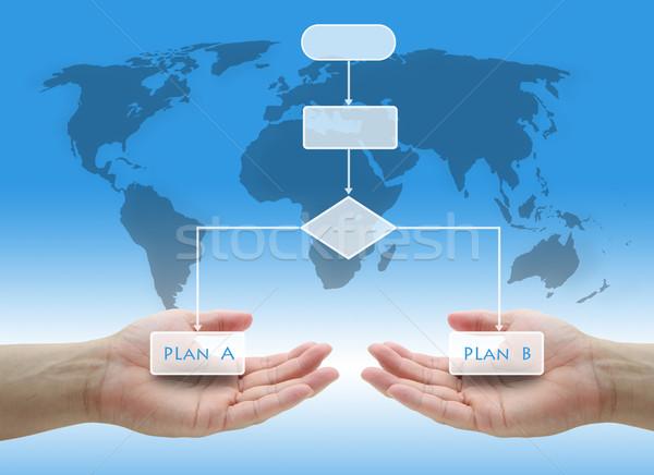 Business risico plan beslissing boom diagram Stockfoto © vichie81