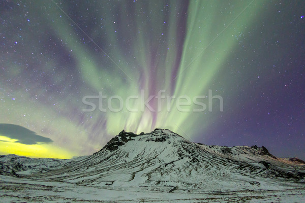 The Northern Light Aurora borealis Stock photo © vichie81