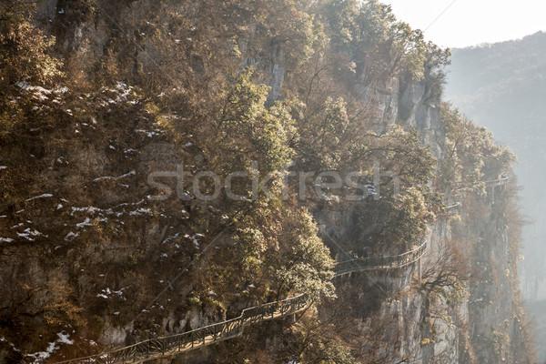 Walkway along Tianmenshan Tianmen Mountain China Stock photo © vichie81