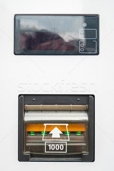 Automaat bankbiljet geld textuur bank kleur Stockfoto © vichie81