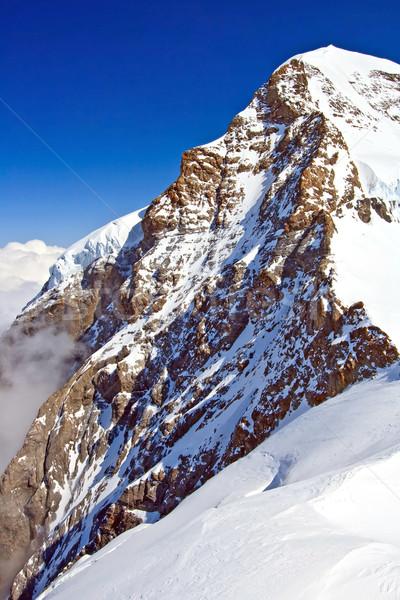 Part of The Swiss Alpine Alps at Jungfraujoch in Interlaken Switzerland, Vertical Stock photo © vichie81