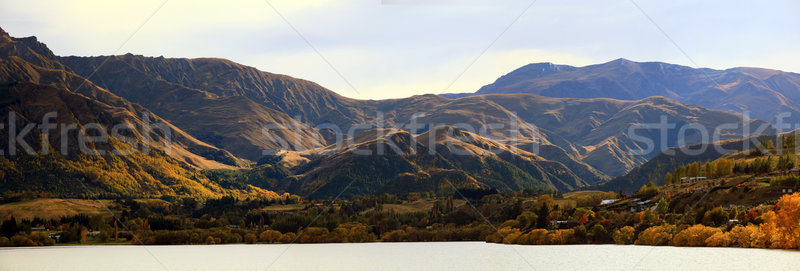 Panorama of Mountain alpine alps range at Lake Hayes Queenstown  Stock photo © vichie81