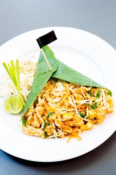 Сток-фото: тайский · стиль · жареный · продовольствие · фон
