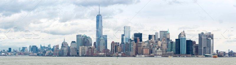 Lower Manhatta NYC  Panorama Stock photo © vichie81