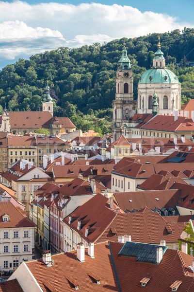 Прага Cityscape Чешская республика воды здании Сток-фото © vichie81