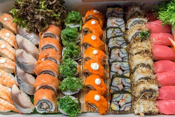 Stock fotó: Szusi · büfé · vonal · hal · főzés · rizs