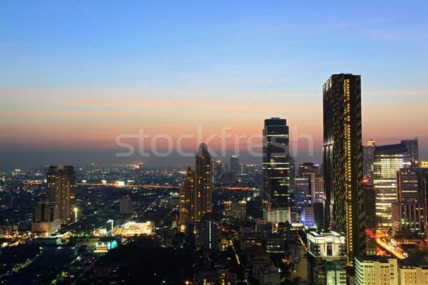 Bangkok skyline stadsgezicht luchtfoto Thailand hemel Stockfoto © vichie81