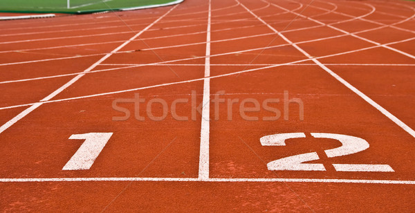Yarış pisti stadyum doku spor alan çalıştırmak Stok fotoğraf © vichie81