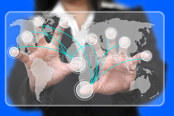 Virtual Touchscreen Interface Stock photo © vichie81