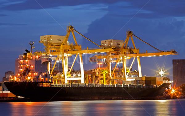 Cargo Ships at dusk Stock photo © vichie81