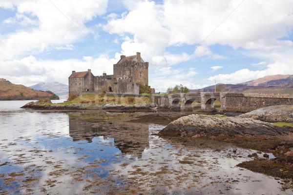 Castelo água edifício paisagem oceano pedra Foto stock © vichie81