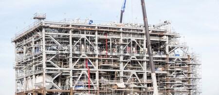 завода завода Природный газ очистительный завод хранения цистерна Сток-фото © vichie81