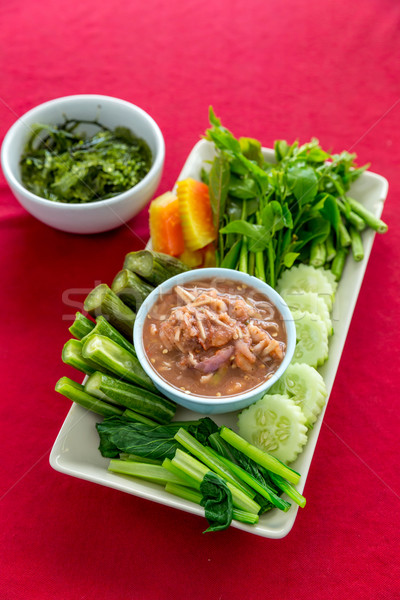 Fresh Shrimp paste Stock photo © vichie81