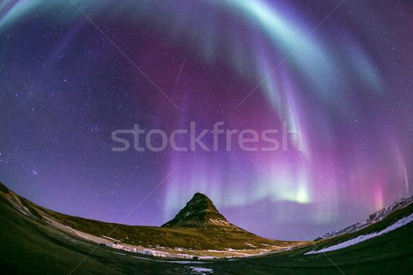 Norte luz aurora Islândia natureza paisagem Foto stock © vichie81