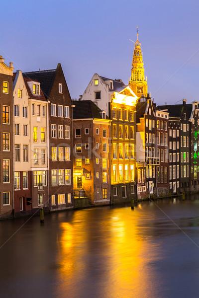 Amsterdam schemering kerk Nederland water Stockfoto © vichie81