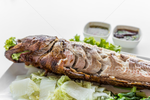 Grilled fish Stock photo © vichie81